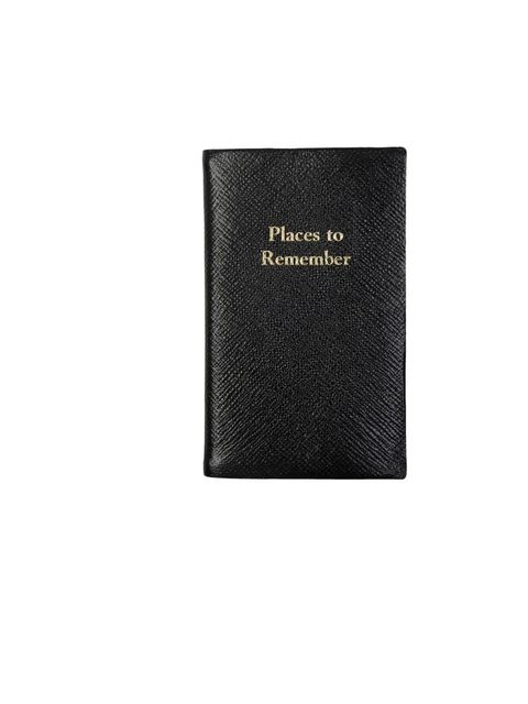 "<p>Leathersmith 'Places to Remember' notebook, £30.50, at <a href=""http://www.liberty.co.uk/fcp/product/liberty/books-and-stationery/black%20places%20to%20remember%20notebook,%20leathersmith%20of%20london/59615"">Liberty London</a></p>"