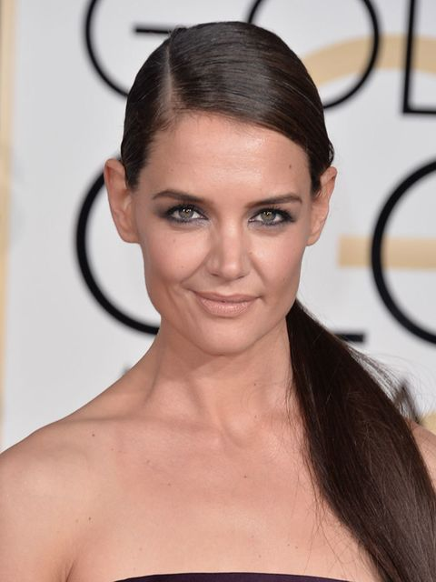 "<p>And the winner is.... <a href=""http://www.elleuk.com/now-trending/katie-holmes-behind-the-scenes-cover-star-elle-april-issue-2014"">Katie Holmes</a> for her extreme coolness in the face of default generic beauty. The sleek side part, properly nude matte"