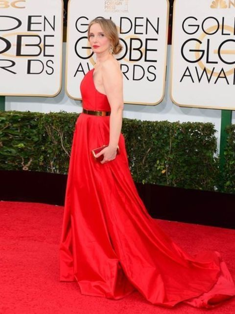 <p><strong>Red</strong></p><p>Julie Deply in Romona Keveza</p>