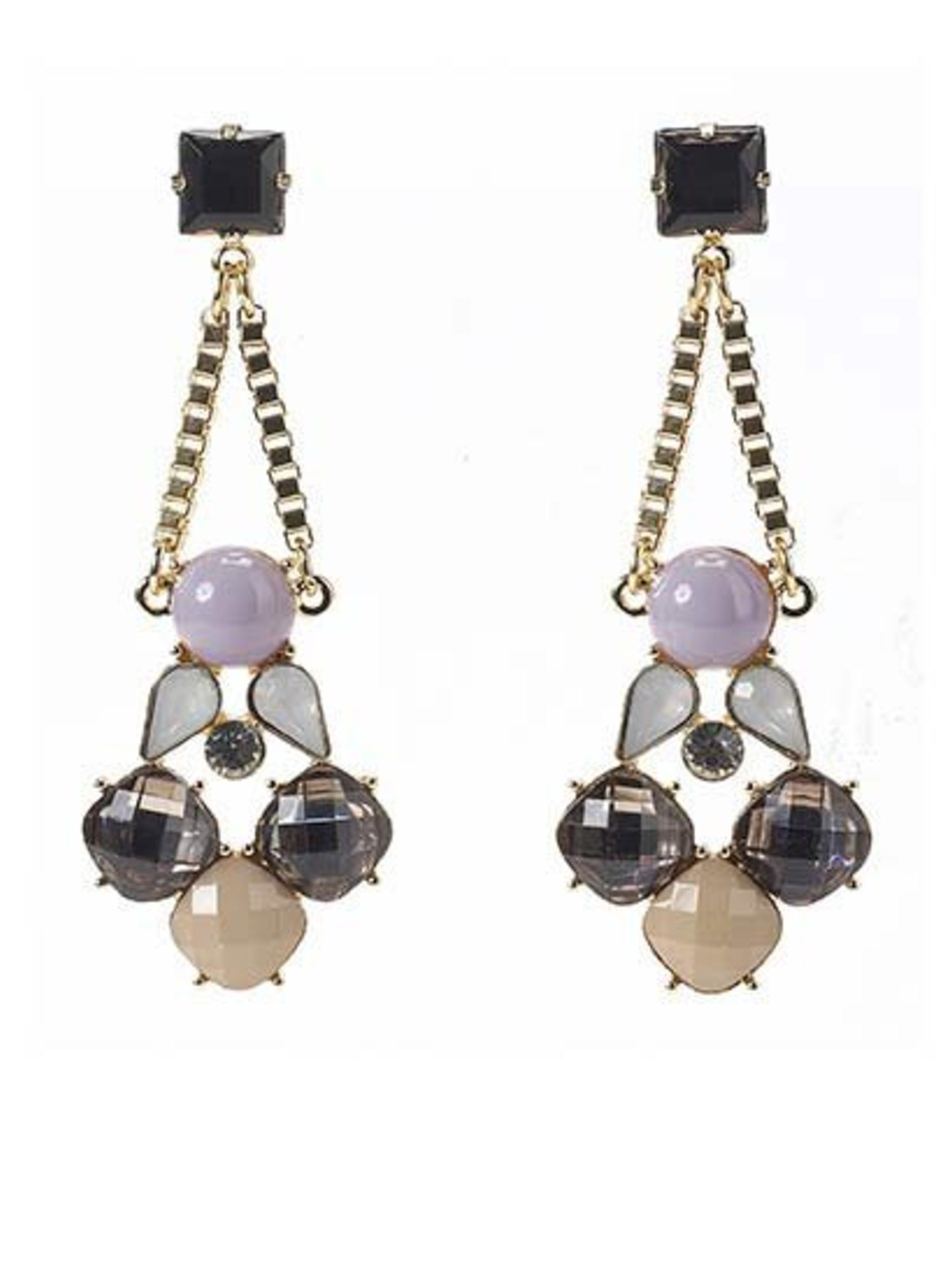 <p>Statement earrings from Warehouse.</p>