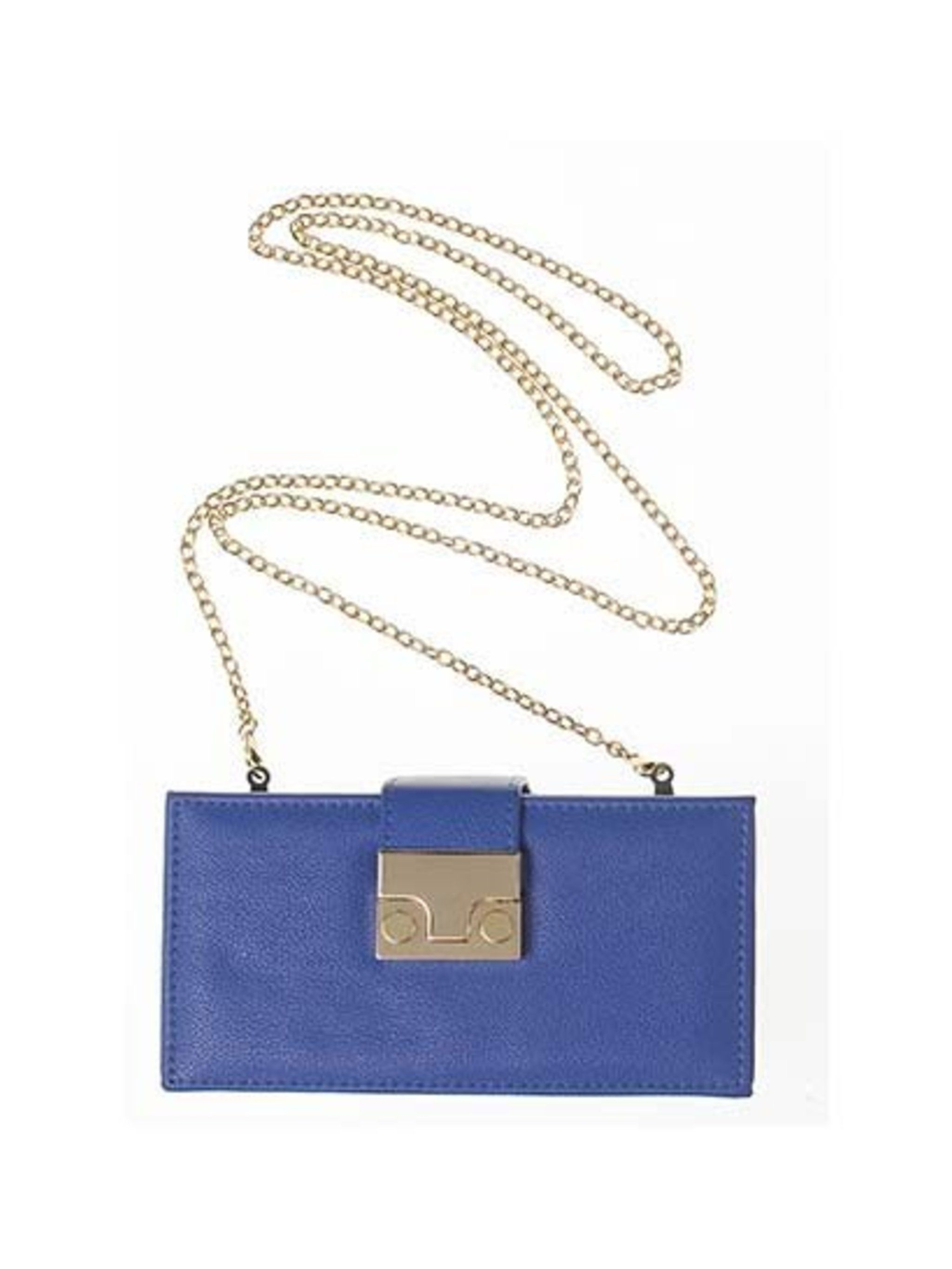 """<p>Blue is a great versatile colour. This box chain bag is great paired with a casual look or can be styled for a night out. Maybe one of the lucky <a href=""""http://www.elleuk.com/elle-style-awards/news/win-tickets-to-the-elle-style-awards"""">Warehouse ticke"""