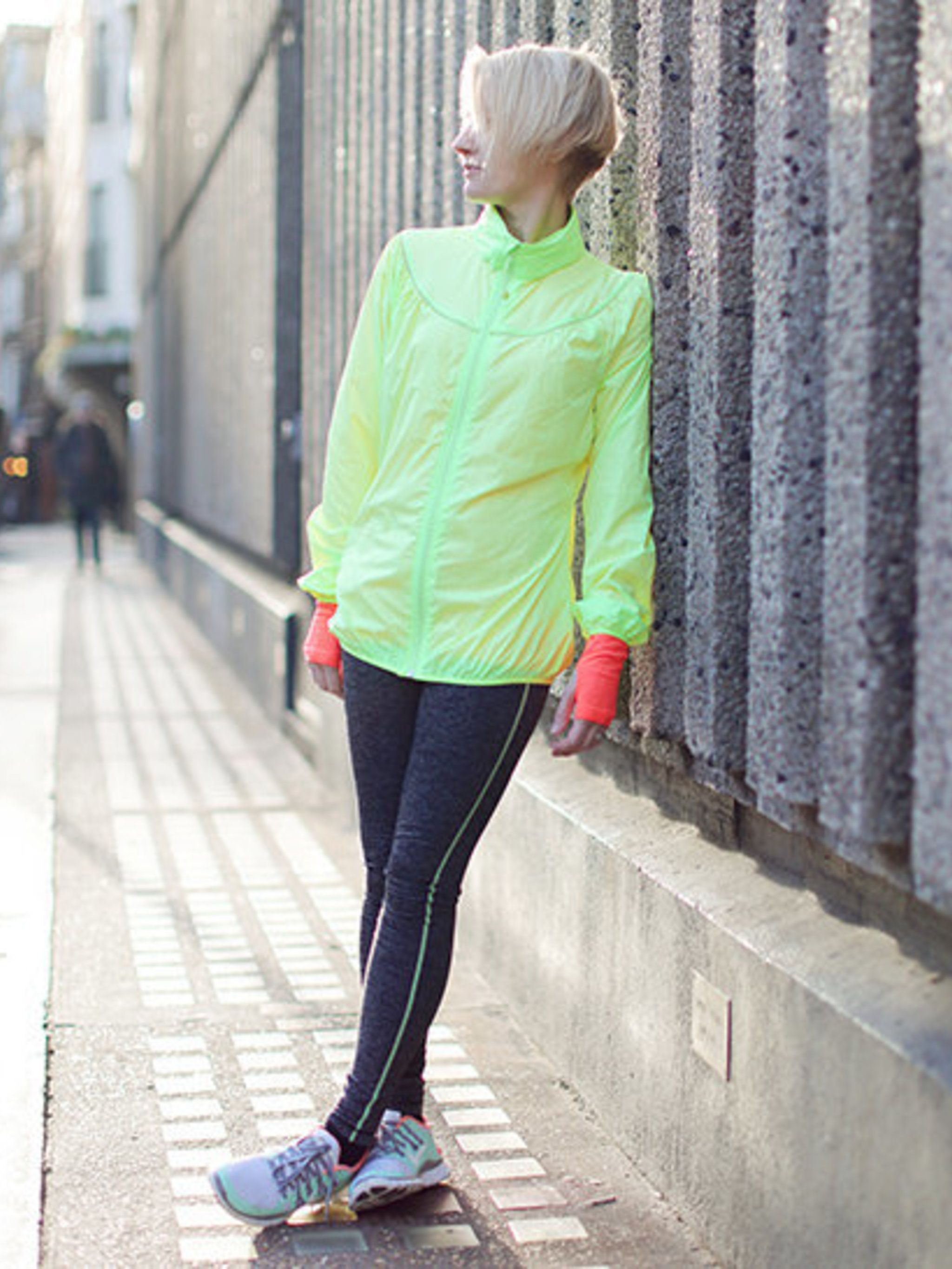 "<p>Lorraine Candy, Editor-in-Chief</p><p><a href=""http://www.sweatybetty.com/"">All kit by Sweaty Betty</a>.</p><p><a href=""http://www.nike.com/gb/en_gb/?cp=EUNS_KW_UK_1_Brand_Core"">Trainers by Nike.</a></p>"