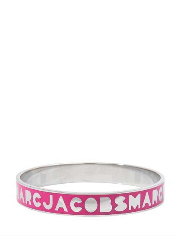 "<p><a href=""http://www.monnierfreres.co.uk/gbuk/jewellery-watches/bracelets/logo-bracelet_p21847345.html"">Marc by Marc Jacobs</a> logo bracelet, £65.</p>"