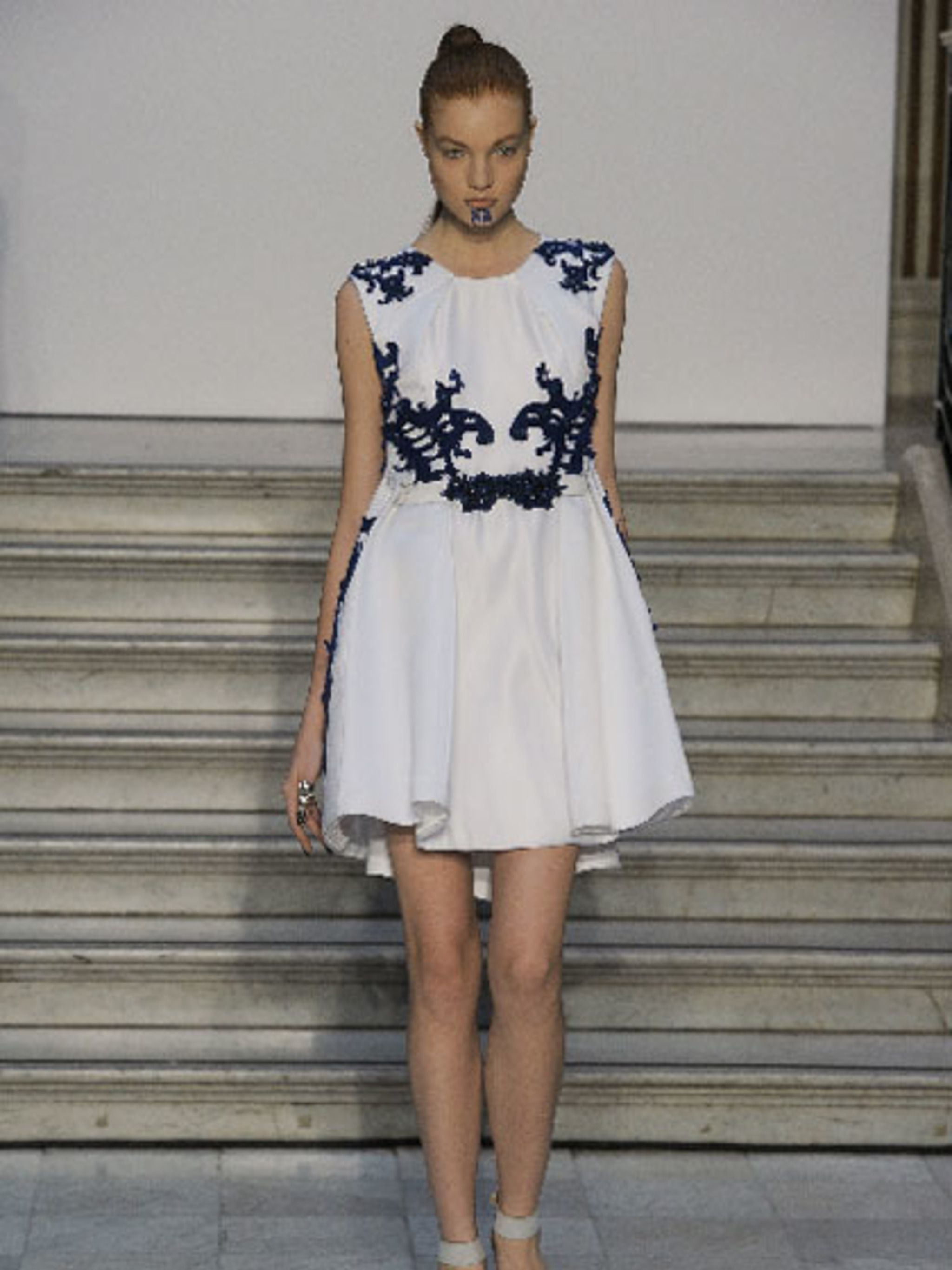 <p>A design from the Fyodor Golan SS13 show</p>