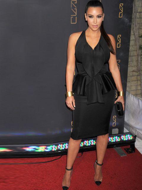 "<p><a href=""http://www.elleuk.com/star-style/celebrity-style-files/kim-kardashian"">Kim Kardashian</a> wowing in a <a href=""http://www.elleuk.com/catwalk/designer-a-z/givenchy/autumn-winter-2012"">Givenchy</a> peplum dress, <a href=""http://www.elleuk.com/ca"