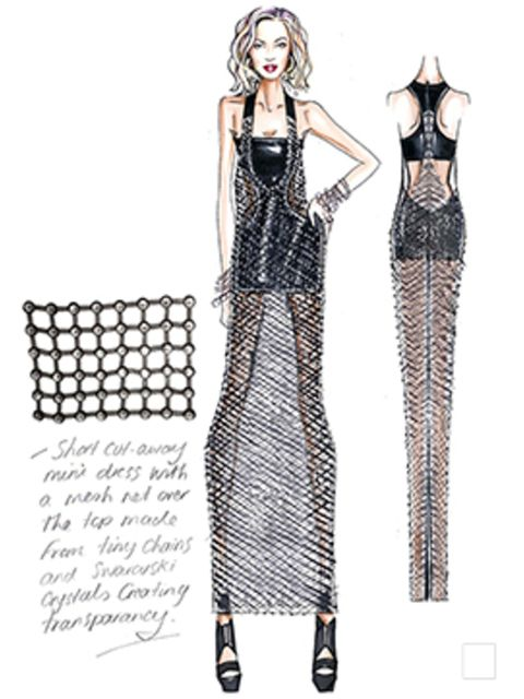 <p>Versace Atelier closing look for Beyoncé's concert</p>