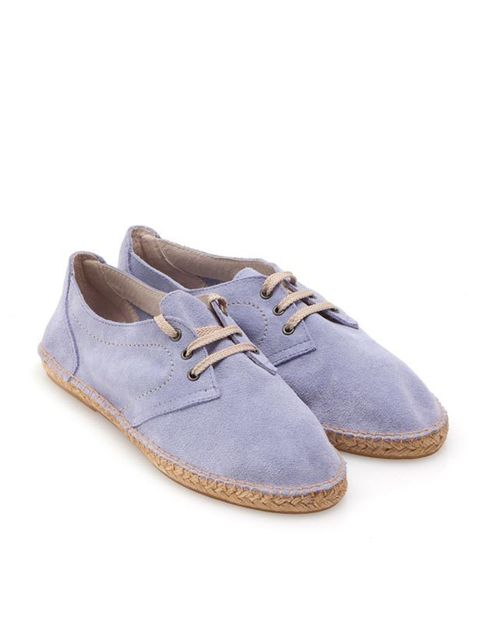 <p>United Colours of Benetton suede lilac lace-up espadrilles, £55, for stockists call 0845 678 1813</p>