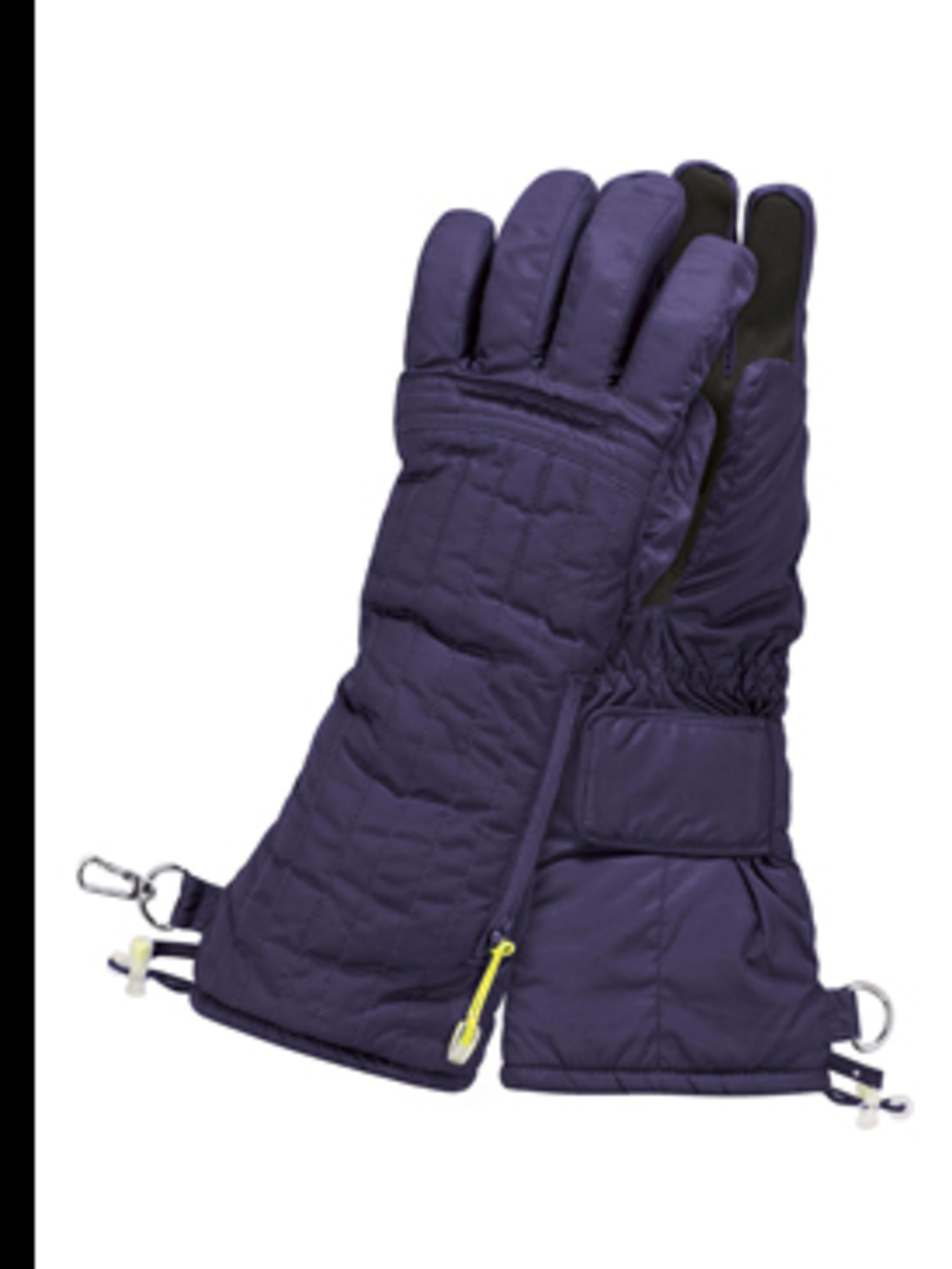 <p>Purple padded gloves, £30, from Adidas by Stella McCartney, for stockists call (0870 240 4204)</p>