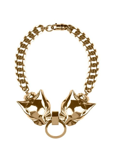<p>Givenchy by Riccardo Tisci double panther necklace in gold, Price on Request, for stockists call 0800 123 400</p>