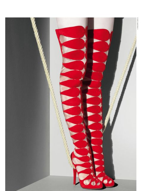 """<p>Christian Louboutin is one saucy 20-year-old. As the brand that makes everyone see red (soles) enters its third decade, it's looking back with a<a href=""""http://www.elleuk.com/news/fashion-news/louboutin-to-put-his-footprint-on-design-museum""""> retrospec"""