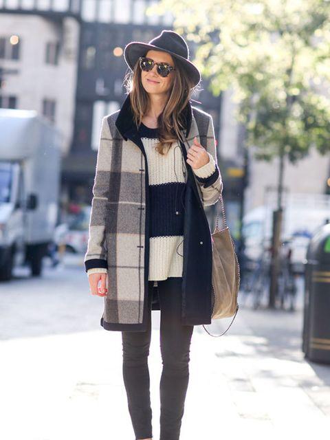 <p>Aimee</p>  <p>Club Monaco coat and hat, jumper from Australia, Rag & Bone jeans, Superga trainers, Henchman sunglasses, Stella McCartney bag.</p>