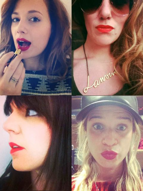"""<p>In support of the wonderful new <a href=""""http://www.theredlippyproject.com/"""">Red Lippy Project</a>, designed to highlight Cervical Screening Awareness Week (9th - 15th June), and encourage those most at risk to attend regular screenings, the whole ELLE"""
