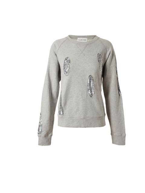 "<p>Our new favourite label just got cooler. Sequins and sweatshirts combine for undeniably cool effect… Filles A Papa sequin sweater, £195, at Browns</p><p><a href=""http://shopping.elleuk.com/browse?fts=filles+a+papa+sequin+sweater"">BUY NOW</a></p>"