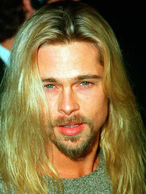 Brad Pitt  Long, tousled, super blonde - Brad Pitt gave good hair back in the nineties.