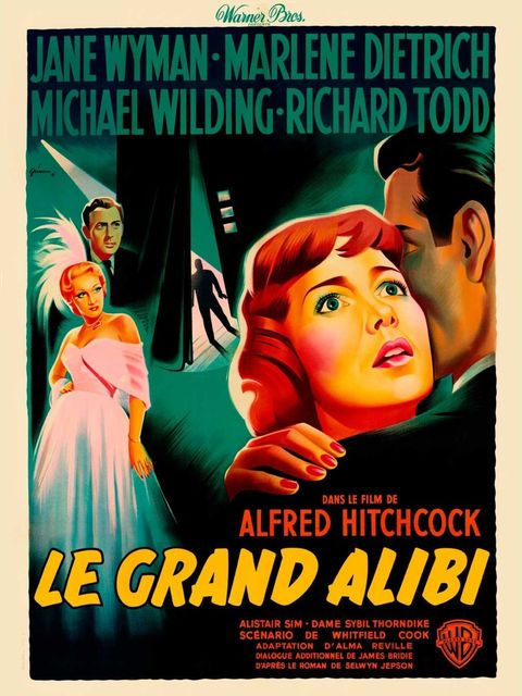 <p>French poster for Stage Fright</p>