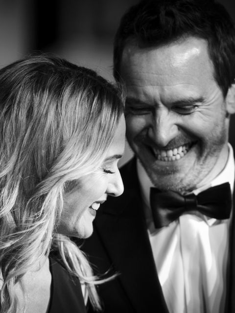 Michael Fassbender and Kate Winslet share an intimate moment at the BAFTAs 2016