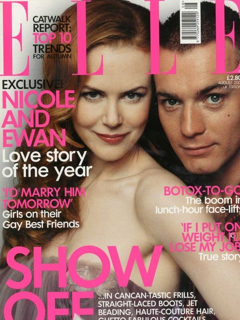 <p>Nicole Kidman and Ewan McGregor, August 2001</p>