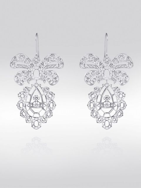<p>Vivienne Westwood for Palladium - Gainsborough long earrings £270</p>