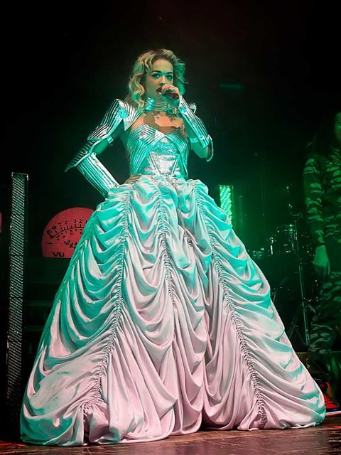 <p>Rita Ora wears Emilio Pucci</p>