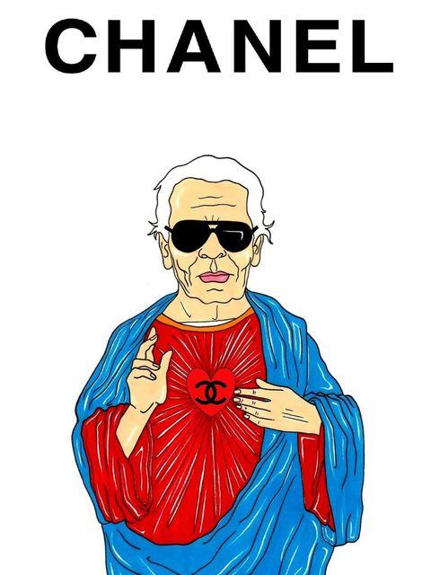 <p>Karl Lagerfeld: fashion pope</p>