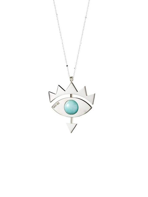 "<p>Now based in Copenhagen, RCA graduate Katrine Kristensen's designs are minimalist and quirky all at once.</p><p><a href=""http://katrinekristensen.com/collections/necklaces/products/eye-amazonite-stone-silver"">Katrine Kristensen</a> necklace, £397</p>"