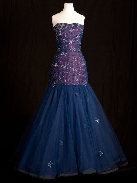 <p>Murray Arbeid evening dress worn by Princess Diana in 1986</p>