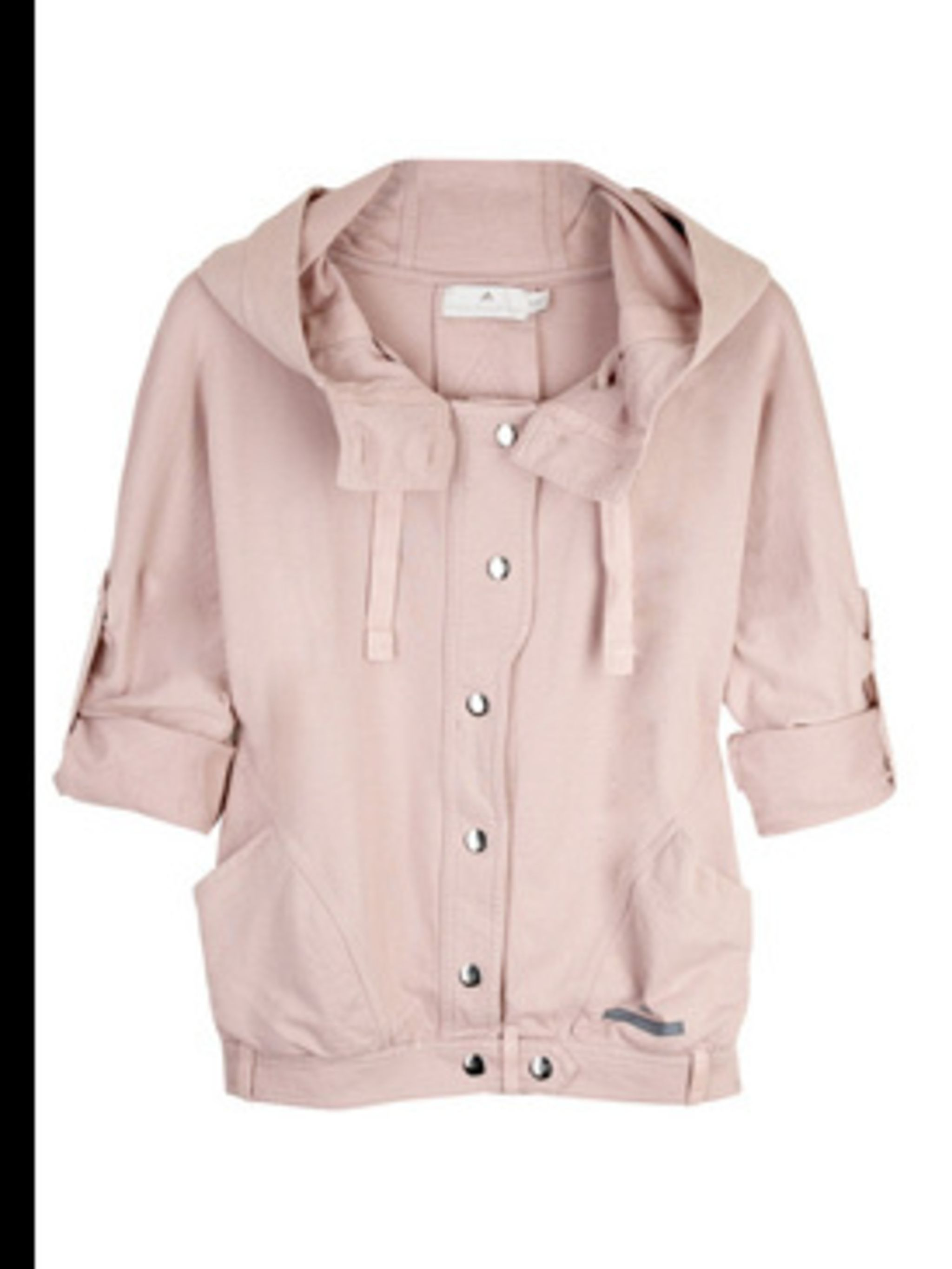 "<p>Cotton hooded sweatshirt jacket, £75, by Adidas by Stella McCartney at <a href=""http://www.net-a-porter.com/product/41055"">www.net-a-porter.com</a></p>"