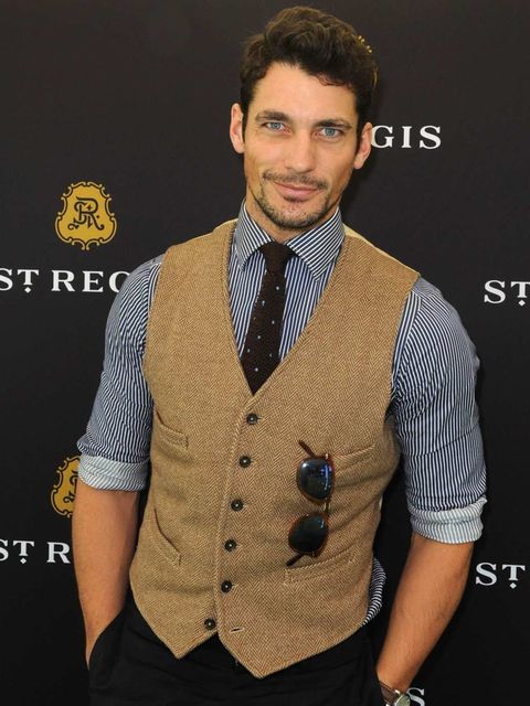 <p>David Gandy at the Polo</p>