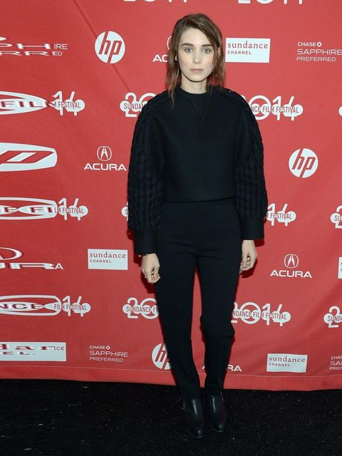 <p>Rooney Mara wears Balenciaga pre-fall 2014 to the premiere of <em>The One I Love</em> during the  Sundance Film Festival, 2014.</p>