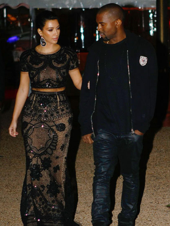 <p>Kim Kardashian and Kanye West</p>