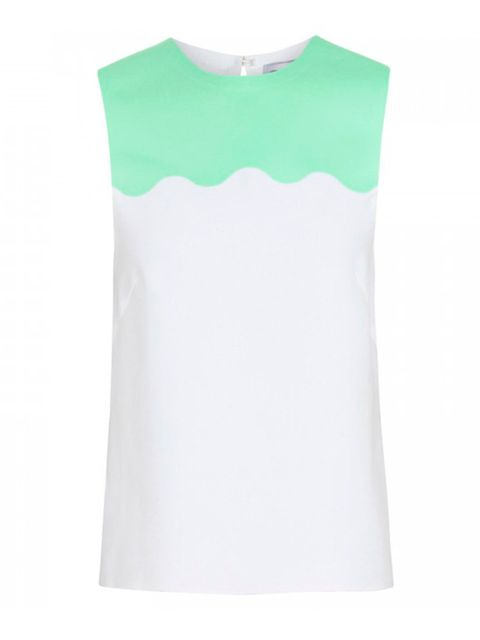 "<p><a href=""http://www.elleuk.com/catwalk/designer-a-z/jonathan-saunders"">Jonathan Saunders</a> 'Iva' crepe tank, £435, available from <a href=""http://www.harveynichols.com/womens-1/categories/designer-tops/tanks-camis/s486190-iva-scallop-trimmed-crepe-ta"