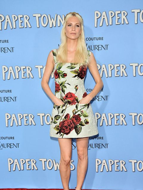 Poppy Delevingne in Dolce & Gabbana in New York, July 2015.
