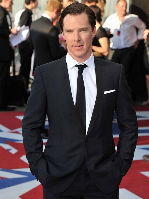 <p>Benedict Cumberbatch wears suit by Spencer Hart at the 2012 BAFTA Television Awards</p>