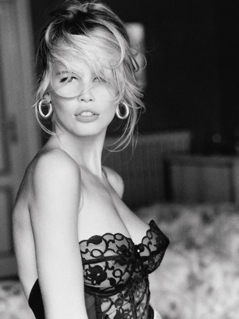 <p>Ellen von Unwerth first shot Claudia Schiffer for Guess in 1989</p>