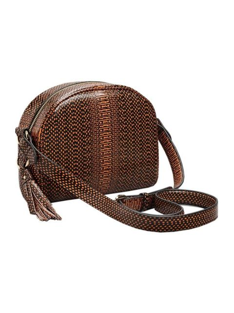 "<p>Fashion Assistant Charlie Gowans-Eglinton is in the market for a wear-with-everything bag in this season's colour - brown. </p>  <p><a href=""http://www.stories.com/gb/New_in/Bags/Reptile_Texture_Tassel_Leather_Bag/591741-11032391.1"" target=""_blank"">& O"