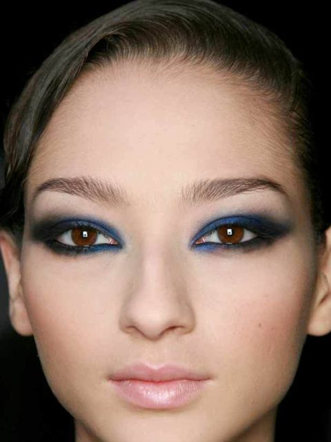 <p>For a subtler way to wear colour this winter, Uzo, Nars' international Senior Make-up Artist recommends the following: 'layer a bold shade such as a bright blue with navy or purple with brown. Start with the bold shade and dust over with the subtler co