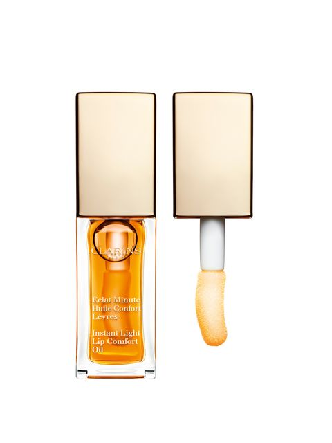 """<p><a href=""""http://www.clarins.co.uk/make-up-lips-lip-gloss-lip-balm/632/"""" target=""""_blank"""">Clarins Instant Light Lip Comfort Oil, £18 (Launch 12th January 2015)</a></p><p>For ultimate lip comfort, Clarins has introduced a lip oil with added hazelnut and"""