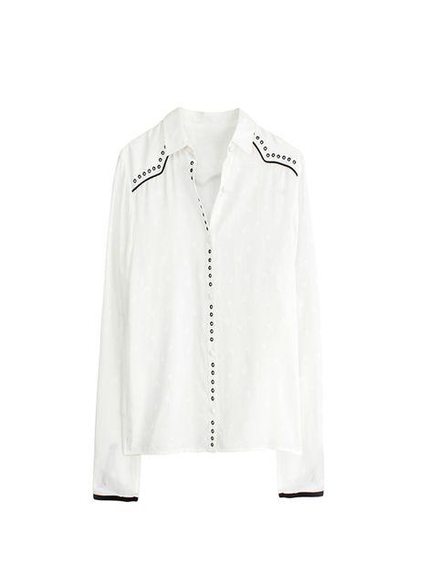 "<p><a href=""http://www.zadig-et-voltaire.com/eu/uk/shirt-woman-tali-eyelets-shirt-white.html"" target=""_blank"">Zadig et Voltaire</a> shirt, £260</p>"