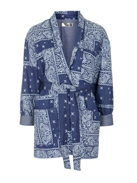 """<p><a href=""""http://www.topshop.com/en/tsuk/product/clothing-427/jackets-coats-2390889/moto-printed-quilted-jacket-4283307?bi=1&ps=20"""" target=""""_blank"""">Topshop</a> jacket, £69</p>"""