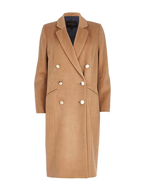 "<p>Seasoned shoppers know the best time to buy your winter coat is when the sun is still shining. <a href=""http://www.riverisland.com/women/coats--jackets/coats/Camel-double-breasted-midi-coat-660160"">River Island, £110</a>.</p>"