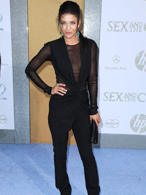 <p>Jessica Szhor at the New York premiere </p>