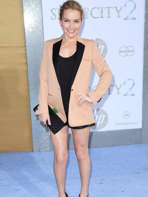 <p>Becki Newton at the New York premiere </p>