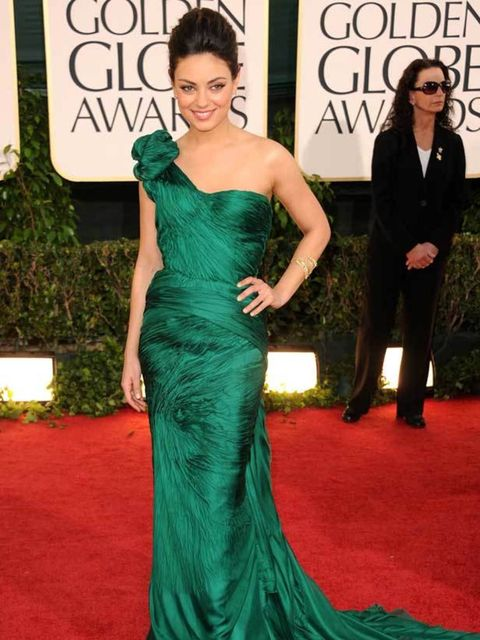 "<p>Mila Kunis in emerald <a href=""http://www.elleuk.com/catwalk/collections/vera-wang/spring-summer-2011/collection"">Vera Wang</a> at the 68th Annual Golden Globe Awards in Los Angeles, 16 January 2011</p>"