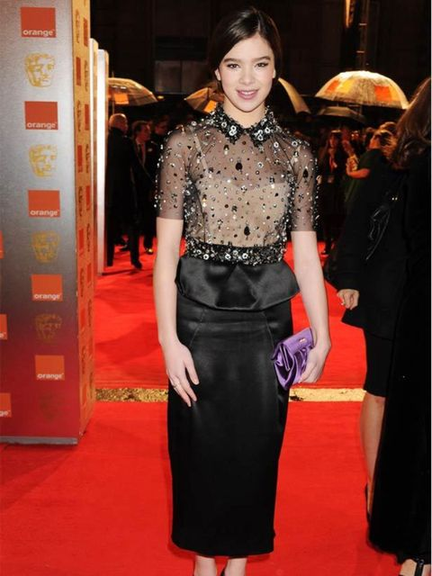 "<p> <a href=""http://www.elleuk.com/starstyle/red-carpet/%28section%29/the-sag-awards-2011/%28offset%29/0/%28img%29/733269"">Hailee Steinfeld</a> in <a href=""http://www.elleuk.com/catwalk/collections/miu-miu/spring-summer-2011/review"">Miu Miu</a> at the BAF"