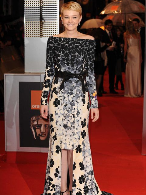 <p>Carey Mulligan wearing a Vionnet gown </p>
