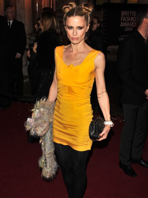 <p>Laura Bailey, who presented the Accessory Designer of the Year award to Katie Hillier, wearing Roland Mouret</p>
