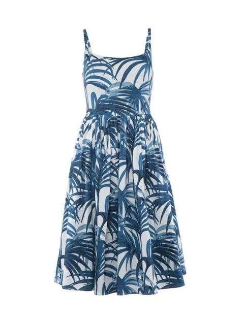 "<p>Bring a little of the tropics to greyscale London.</p>  <p> </p>  <p><a href=""http://www.houseofhackney.com/new-in/clothing/palmeral-eleanor-dress-white-azure.html"" target=""_blank"">House of Hackney</a> dress, £295</p>"