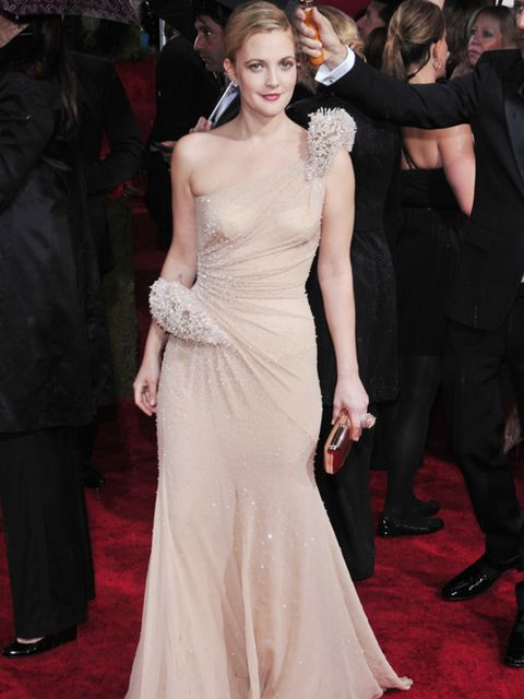 <p>Drew Barrymore looking amazing in an Atelier Versace gown </p>