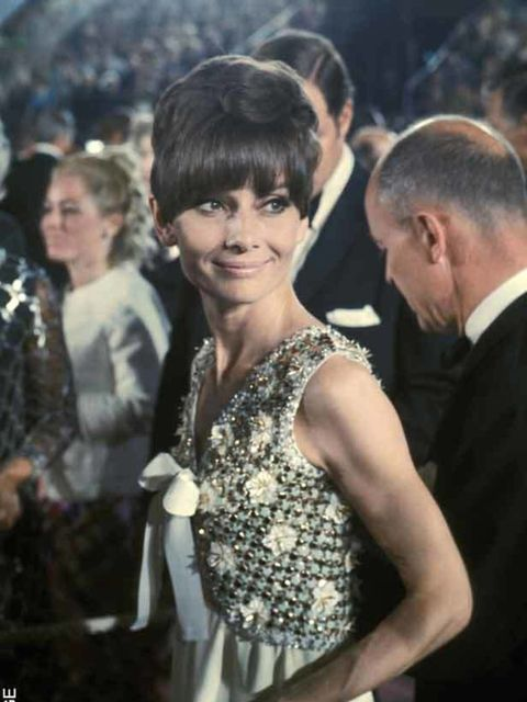 "<p><a href=""http://www.elleuk.com/fashion/special-features/bridal-icons"">Audrey Hepburn</a> at the 47th Annual Academy Awards, 8 April 1975 </p>"