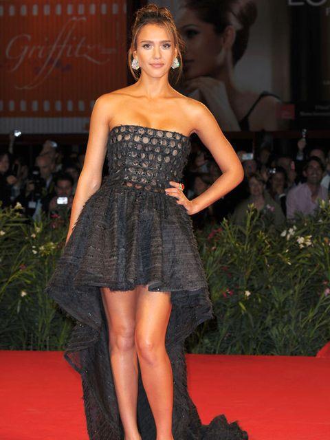 <p>Jessica Alba in a Valentino gown</p>